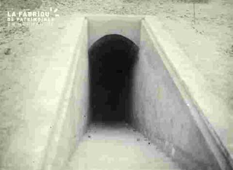 Entrée du souterrain du Sépulcre Poste de secours