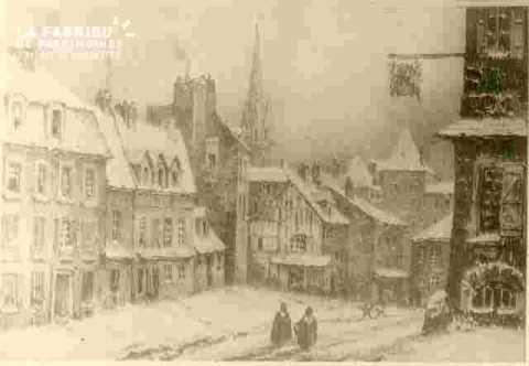 Caen sous la neige-Quartier Saint Pierre