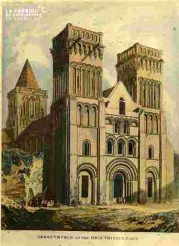 Abbey church of the Holy Trinity colorié