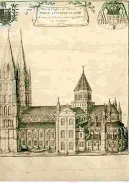 Vue de l'Abbaye de Saint Etienne de Caen