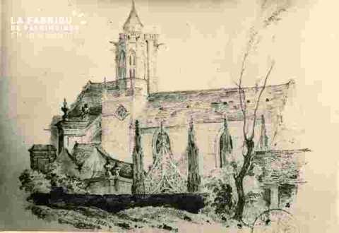 Le vieux Saint Etiennevu du jardin de M.Richard