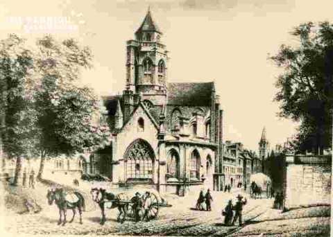 Le vieux Saint Etienne, gravure allemande