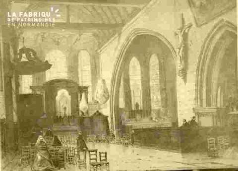 Saint Sauveur, double nef intérieur