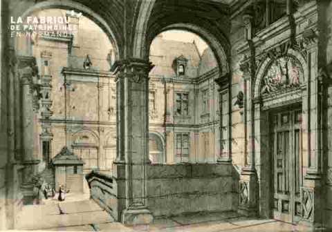 Hotel d'Escoville, loggia