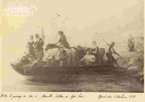 Réception de Napoléon III  près de Préfecture avec revue