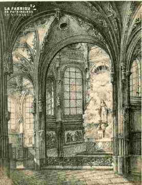 Saint Pierre .Chapelle de la Vierge, abimé