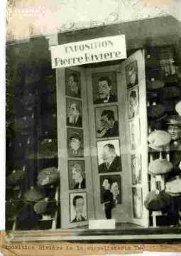 Exposition Pierre Rivière.Chapellerie Thiré    cf E 41