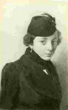 Exposition :Portrait de femme chatain à grand chapeau