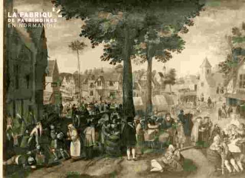 Scène de rue au Moyen-age