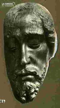 Christ, tête, B sculp XVIè