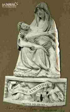 Pieta fin Xvè Pierre polychrome