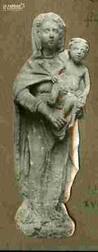 Pieta B s et polychrome fin Xvè