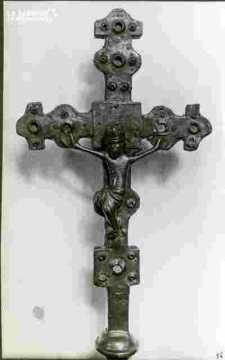2  Croix processionelles cu doré & émaux XIIIè