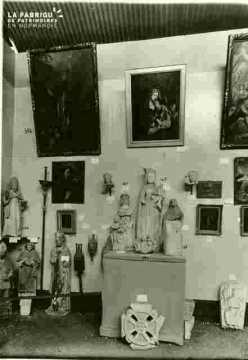 Saint Eutrope, bois sc polychrome XVI è