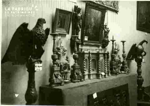 Chandeliers anciens(4), bois sculpté L.XIV