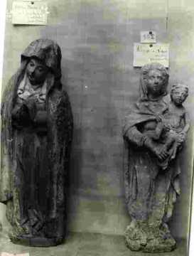 Exposition, bois sculpté doré, Eglise de Saint Ouen du mesnil Oger