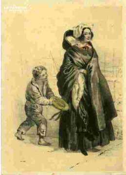 Colorié-Jeune fille d'Avranches (50)