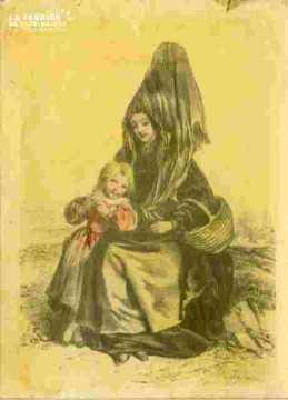 Colorié-Femme du Mt Gardon, près Saint Sauveur-le-vicomte)(50)