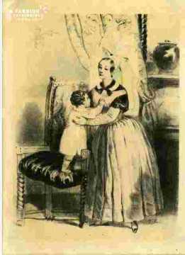 Colorié-Femme en deuil-Pont-lévêque et Lisieux (14)