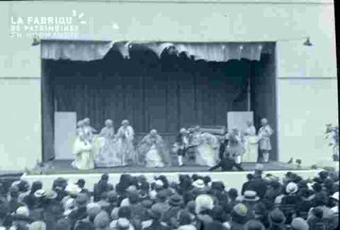représentation théatrale, Scène et parterre