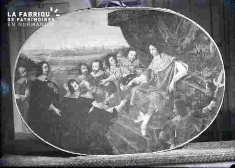 Louis XIII reçoit les clès dela ville de Caen.    cf M 90
