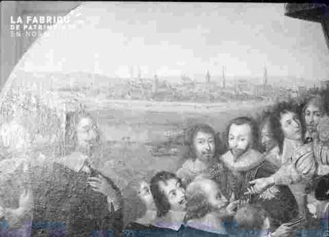 Louis XIII reçoit....idem-agrandissement        .cf M90