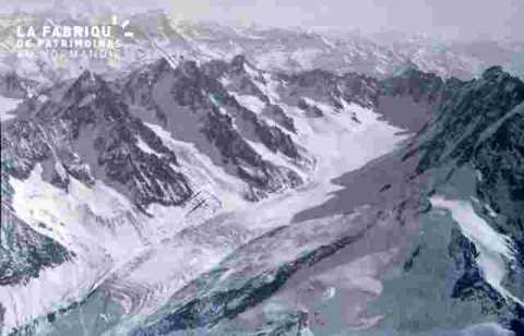 Survol des montagnes-Glacier