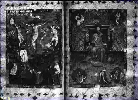 2 vitraux, jésus, Saint Pierre ?