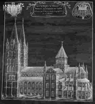 Gravure de Saint Etienne-tampon