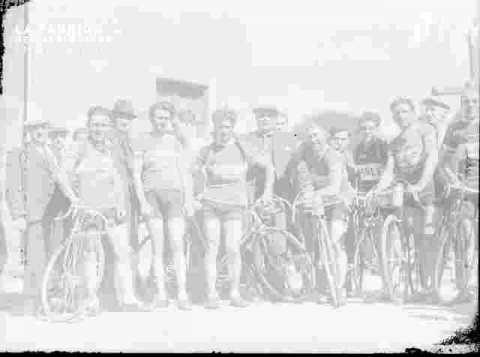 Cyclisme, départ course