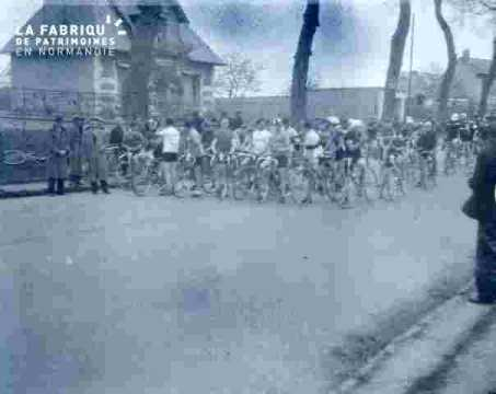 Course cycliste.prêt à partir
