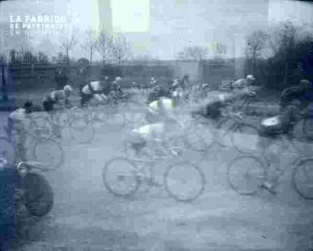 Course cycliste.en course
