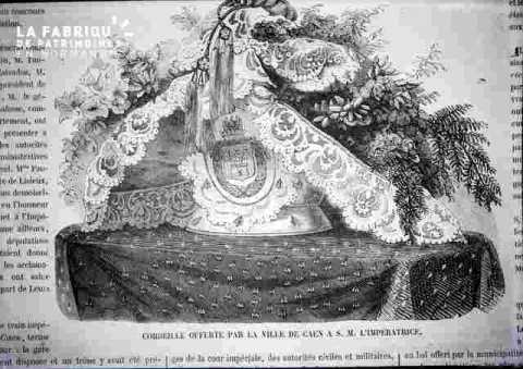 Corbeille offerte par la ville de Caen à l'Impératrice