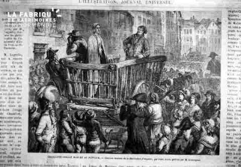 Ch Corday dans la charrette des condamnés