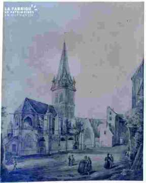 Saint Julien et passants