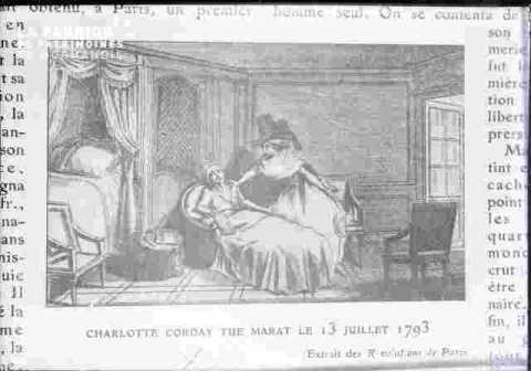 Ch Corday-assassine Marat le 13 juillet 1792