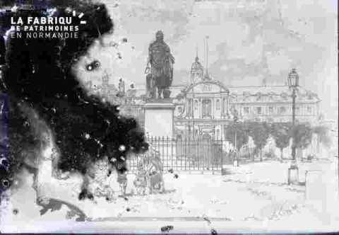 Ancienne mairie et  statue Louis XIV