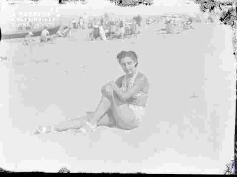 Françoise à la plage