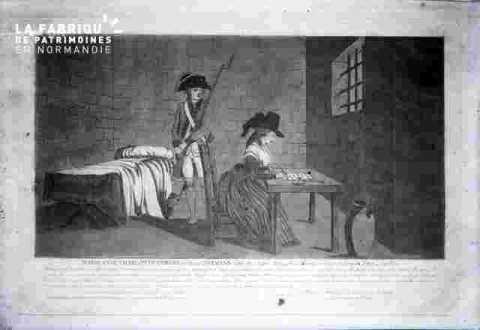 Charlotte Corday- écrivant dans sa cellule