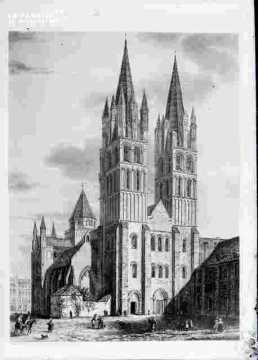 Saint Etienne-vu de la place Monseigneur des Hameaux