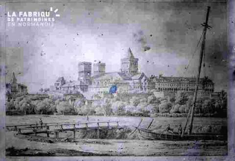 Abbaye aux dames-vue du port