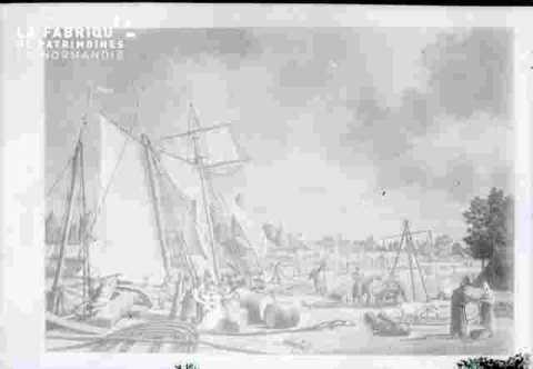 Le port-bateaux & ville en fond