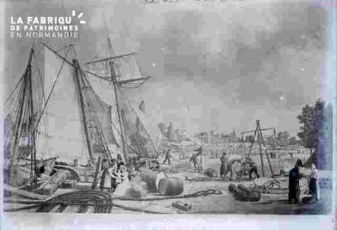 Le port-bateaux & ville en fond (double)