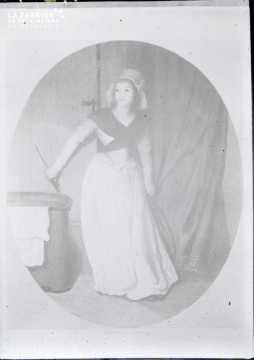 Charlotte Corday-avec son  couteau