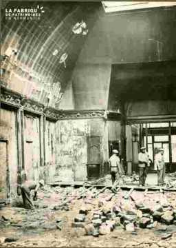 Démolition de la salle du Grand Balcon