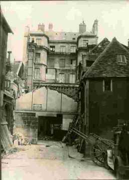 Etat des travaux du coté de la rue de l'Ancienne Halle
