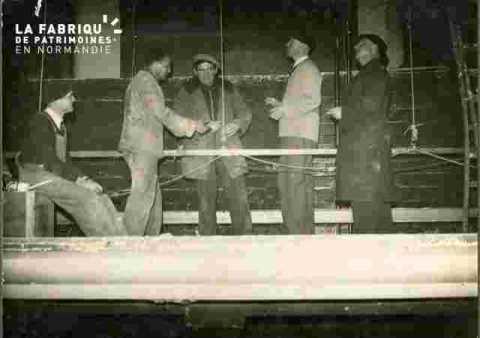 Pose de l'écran-MM Leghailst, Gense, Viel et Déclais