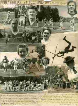 Championnats d'Athlétisme-Affiche générale avec photos des champions