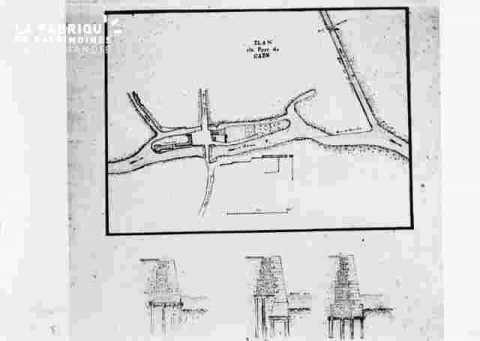 Plan du port de Caen