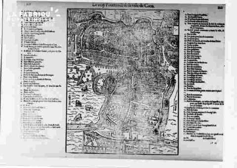 Plan de Caen en 1585